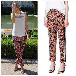 Zara leopard drawstring pants
